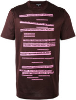 Lanvin word print T-shirt - men - Silk/Cotton - S