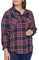 Junarose Plus Plus Maika Checkered Cotton Button-Down Shirt