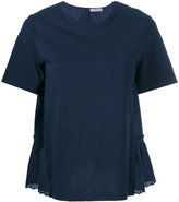 Moncler silky back panel top - women - Cotton - XS