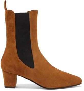 Paris Texas Square-toe Suede Chelsea Boots - Tan