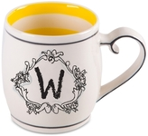 """Home Essentials Monogram """"W"""" Mug"""