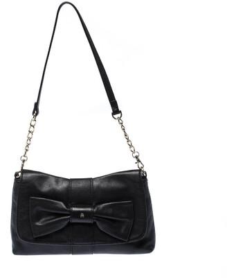 Aigner Black Leather Shoulder Bag