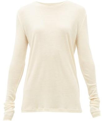Raey Long-sleeved Organic-wool T-shirt - Womens - Ivory