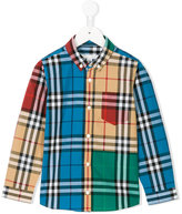 Burberry colourblock plaid shirt
