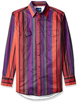 Wrangler Men's Big and Tall Brushpopper Long Sleeve Western Shirt