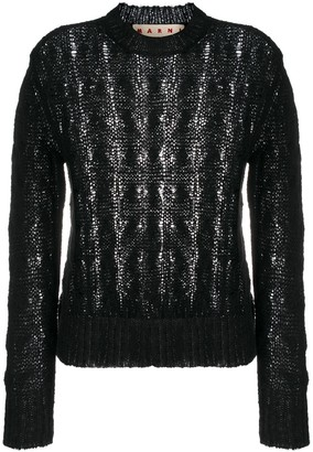 Marni Cable-Knit Crew-Neck Jumper