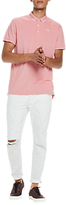 Scotch & Soda Tipped Edge Polo Shirt, Pink