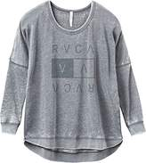 RVCA Junior's Higher End Crew Sweatshirt