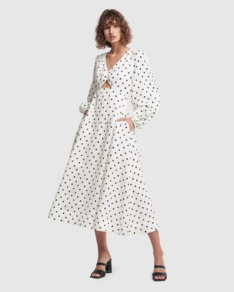 Aje Liberation Blouson Midi Dress