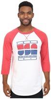 The North Face 3/4 Sleeve USA Baseball Tee Men's Clothing