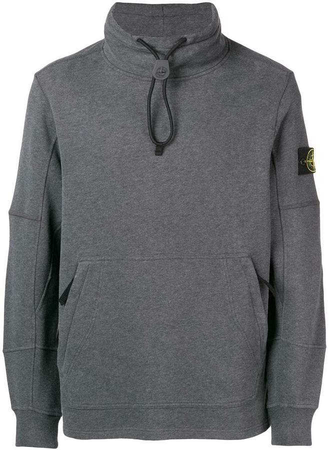 Stone Island toggle neck sweatshirt