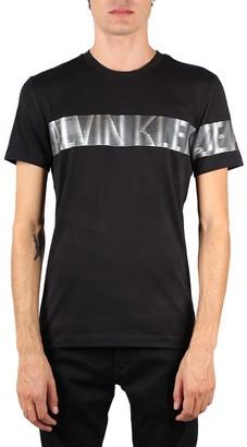 Calvin Klein Jeans Black Ck Reflective Cotton Logo T-shirt