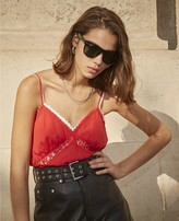 The Kooples Sporty red polyester camisole with logo