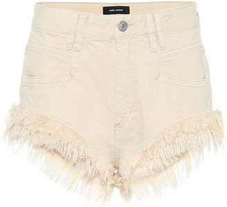 Isabel Marant Eneida fringed denim shorts