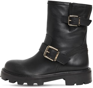 Jimmy Choo 30mm Youth Leather Biker Boots