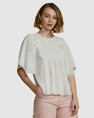 Ids Heather Bib Front Blouse