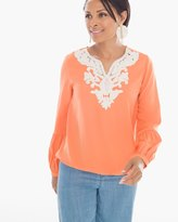Chico's Embellished Popover