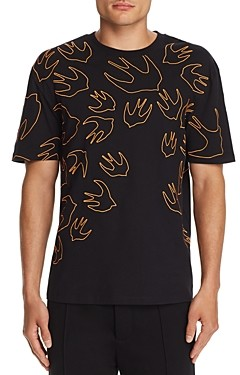 McQ Embroidered Swallow Tee