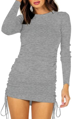 Steve Madden Long Sleeve Mini Dress Grey