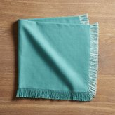 Crate & Barrel Rio Aqua Dinner Napkin