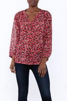 Jade Red Marble Blouse