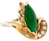 Ring 14K Diamond & Jade