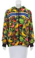Blank NYC Floral Satin Jacket