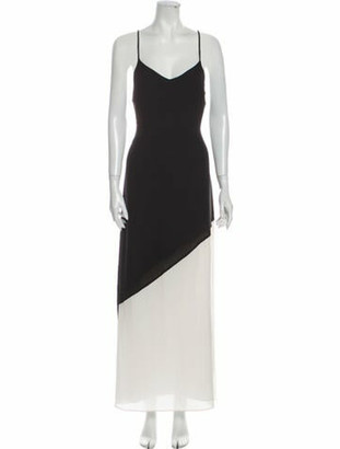 Alice + Olivia V-Neck Long Dress w/ Tags Black