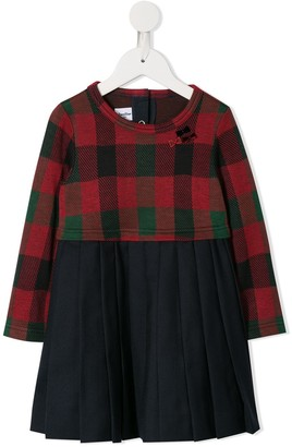 Familiar Tartan Short Dress