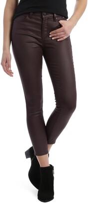 Mavi Jeans Tess Bordeaux Faux Leather Cotton Blend Skinny Pants