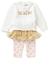 Wendy Bellissimo Baby Girls 3-24 Months Bow-Applique Shirt, Tutu, & Pants Set