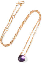 Pomellato Nudo 18-karat Rose Gold Amethyst Necklace
