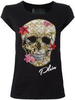 Philipp Plein skull print T-shirt - women - Cotton - S