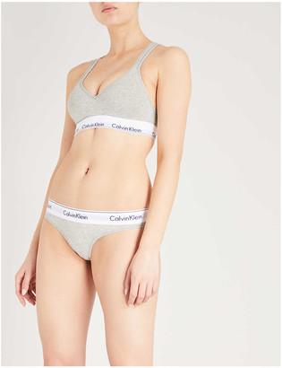 Calvin Klein Modern stretch-cotton thong