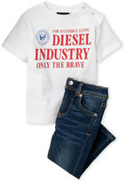 Diesel Infant Boys) Successful Living Tee & Skinny Jeans Set