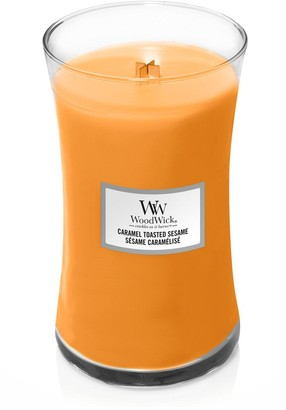 Woodwick Large Hourglass Candle Caramel Toasted Sesame