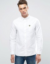 Lyle & Scott Buttondown Oxford Shirt In Regular Fit In White