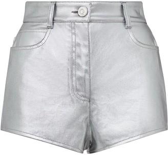 Fendi Prints On metallic denim shorts