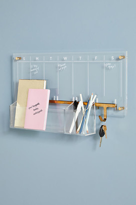 Russell + Hazel Acrylic Wall Calendar Desk Set By Russell+Hazel in Clear