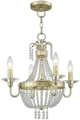 Livex Lighting Livex Valentina 4-Light Wg Mini Chandelier/Ceiling Mount