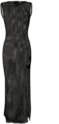 Alanui Sequin-Embellished Sheer Maxi Dress