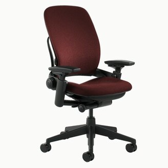 Steelcase Leap Task Chair Arms: Adjustable, Frame Color: Black, Upholstery Color: Buzz2 - Chocolate (5G58)