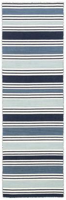 """Jaipur Living Salada Stripe Blue/White Area Rug, 2'6""""x8' Runner"""