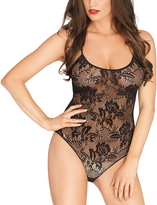 Leg Avenue Rose Lace Strappy Back Teddy