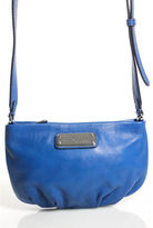 Marc by Marc Jacobs Royal Blue Leather Silver Tone Crossbody Handbag
