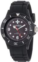 RumbaTime Unisex 12573 Perry Silicone 38MM Lights Out Modern Stylish Analog Watch