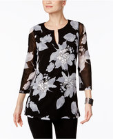 INC International Concepts Floral-Print Tunic, Only at Macy's