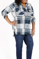 Curvy Fashion USA Plus-Size Plaid Shirt