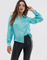 Fashion Union button down shirt in satin