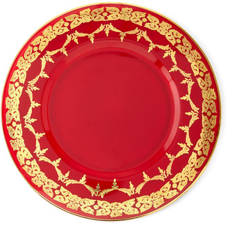 Neiman Marcus Red Oro Bello Charger, Set of 4